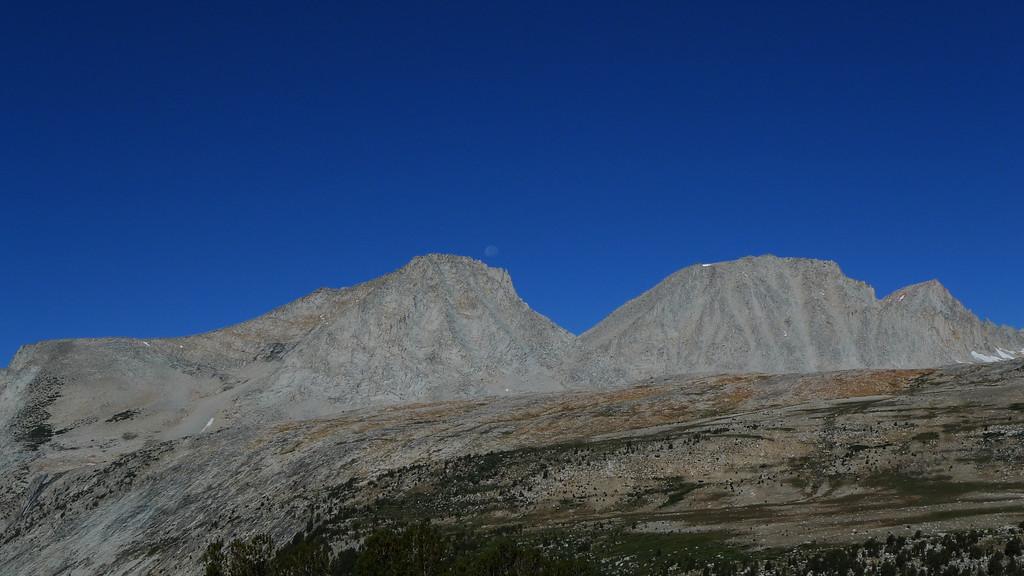 Moon over Merriam Peak