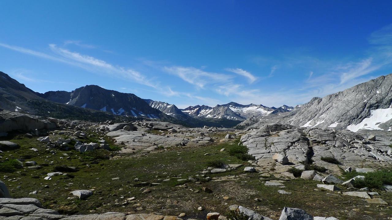 Hiking through Upper Basin.