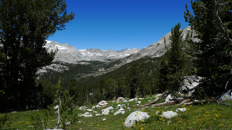 Looking north into Upper Basin (along the John Muir Trail)