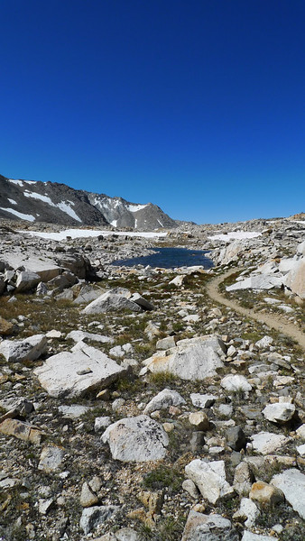 Some pretty tarns up here along Taboose Pass