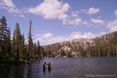 In fact, the lake was warm enough for swimming (seriously, I know sierra cold lakes and this was very tame by those standards, especially considering it's the first week of June)