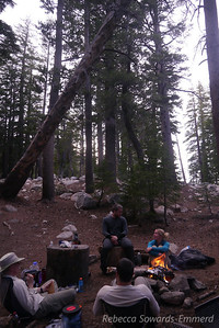We had a nice campsite and fire. The fire wasn't needed for warmth, but it sure was nice for cooking up the fishies!