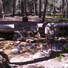 The biggest stream crossing near the junction to White Wolf.