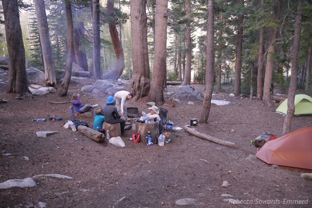 Relaxing in camp. Mosquitoes weren't too bad, relatively speaking. They were out, but I've had worse.