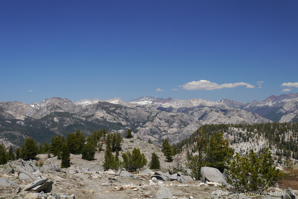 View from Ten Lakes Pass (see end of album for labeled peaks)