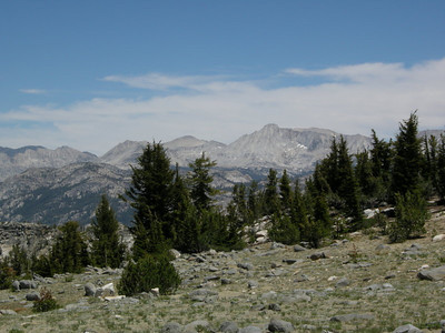 With killer views!  Here is Mt Conness and Hoover Wilderness Peaks