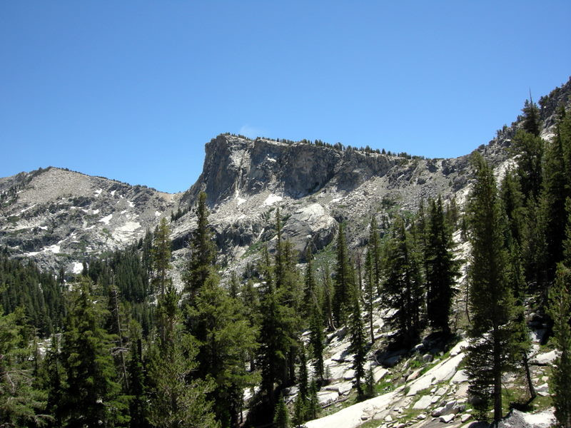 View while descending from the pass