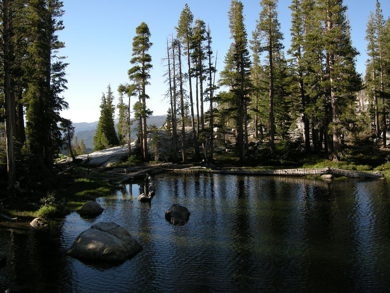 I wandered around the lake and found a campsite overlooking the Grand canyon of the Tuolumne