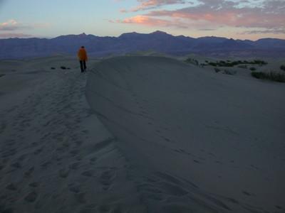 Bex on the dunes enjoying the sunset views
