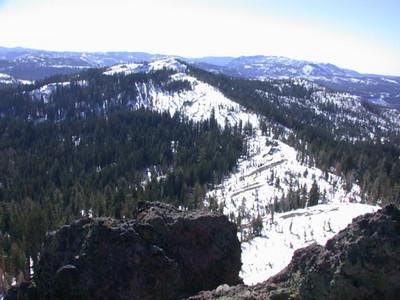 View toward Andesite Peak from Castle Peak