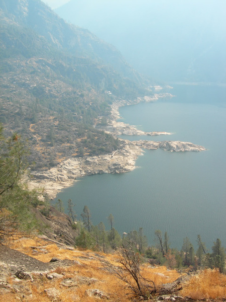 Smoke filled valley as we approach Rancheria Falls.