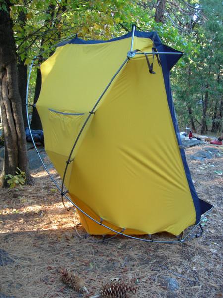 The amazing gravity-defying tent!