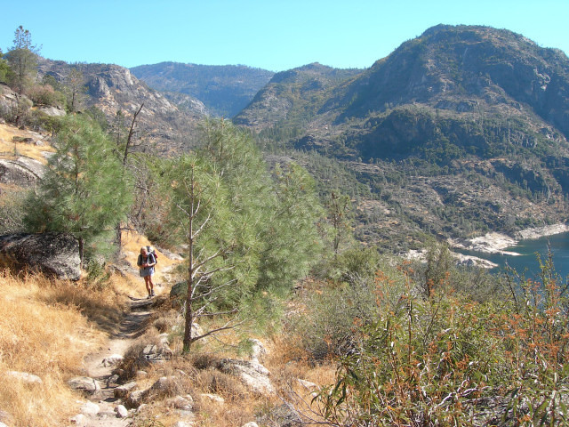 Bex coming up the trail.