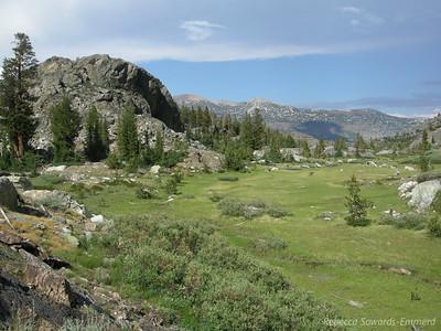 Beautiful meadow before Cabin Lake