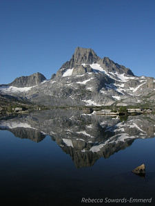 Banner Peak reflecting in Thousand Island Lake