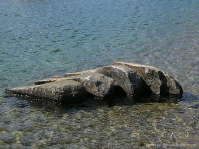 Very cool broken rock. Kind of looks like a sliced chicken breast.