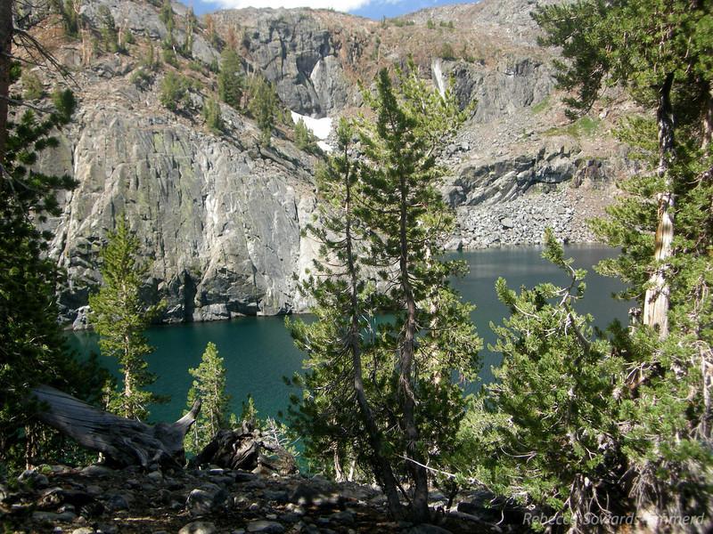 Ruby Lake view as we climb the ridge.