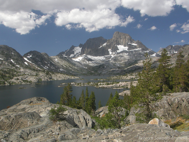 Next: Garnet lake. I camped here when I did the JMT in 2007. Slightly different perspective on Banner Peak from here, and you can see Mount Ritter better (the left peak in the middle - banner is the right/taller of the two).