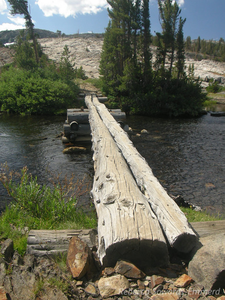 Creek crossing at Lake outlet.