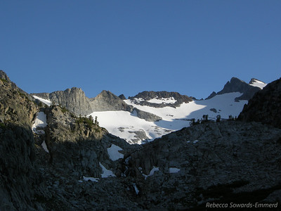 A closer look at the Lyell Glacier/Range before sunset.