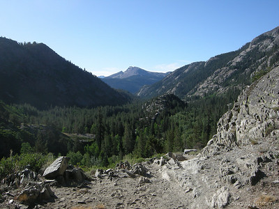 Mammoth Mountain view from the trail