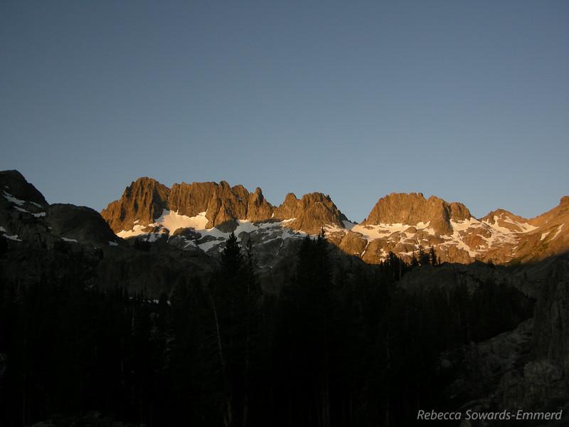 Sunrise over the ritter range/minarets