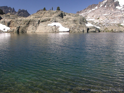 Beautiful clear water in this lake!