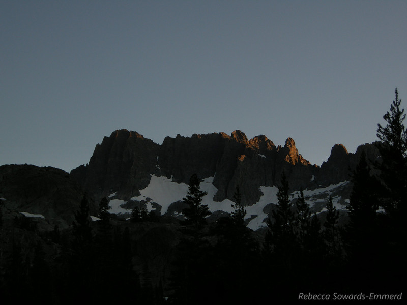 Sunset over the Minarets from camp.