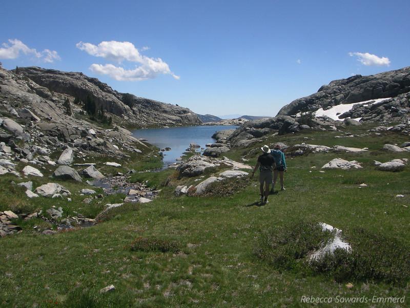 David and Pavla walking back to the lower Lake.