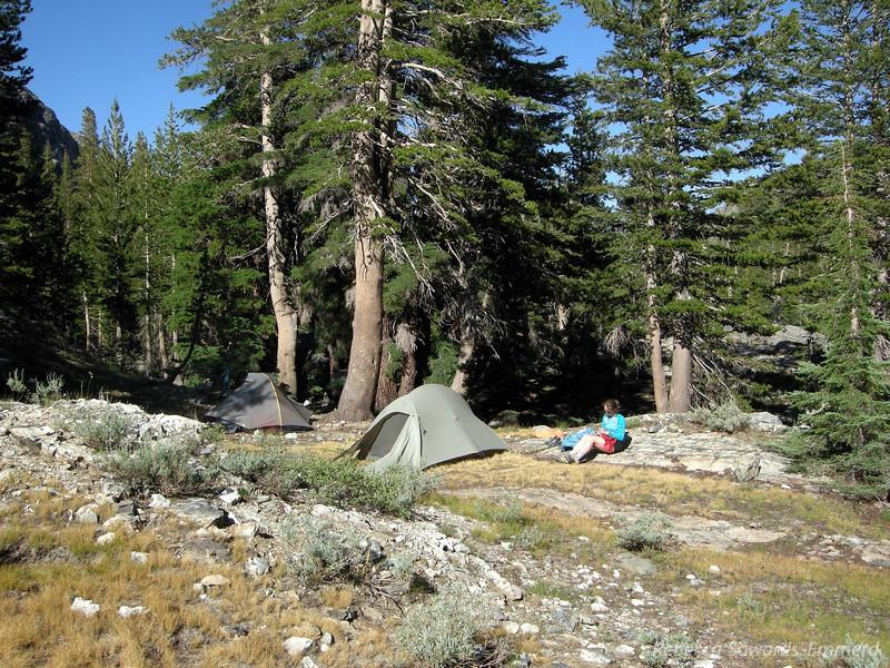 Camp along Shadow Creek