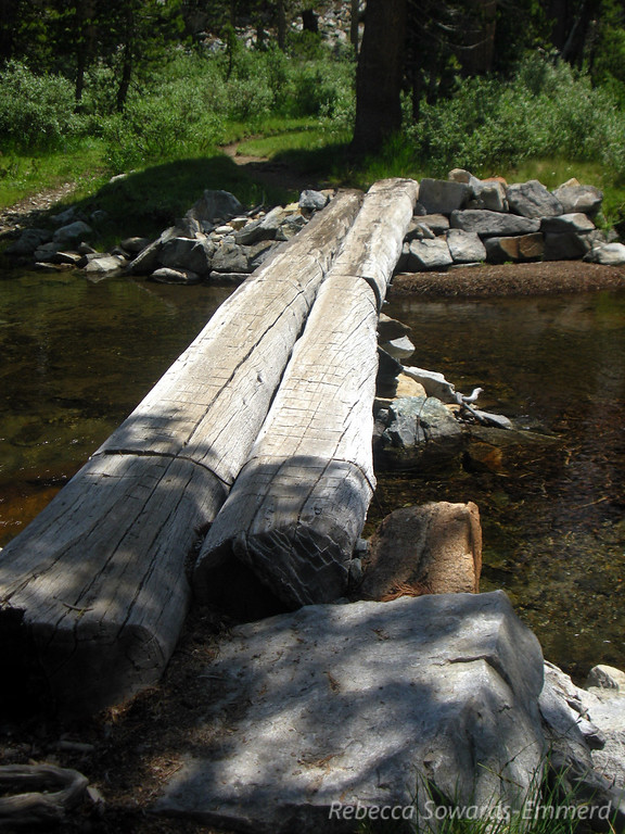 Fortunately there is a log crossing to keep your feet dry.
