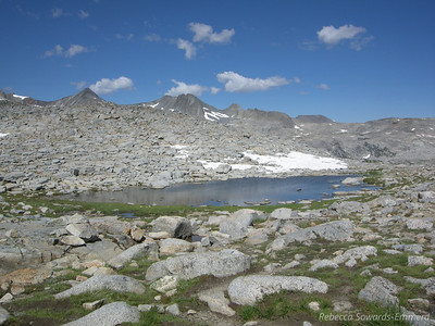 Another view of the tarn at Donohue Pass