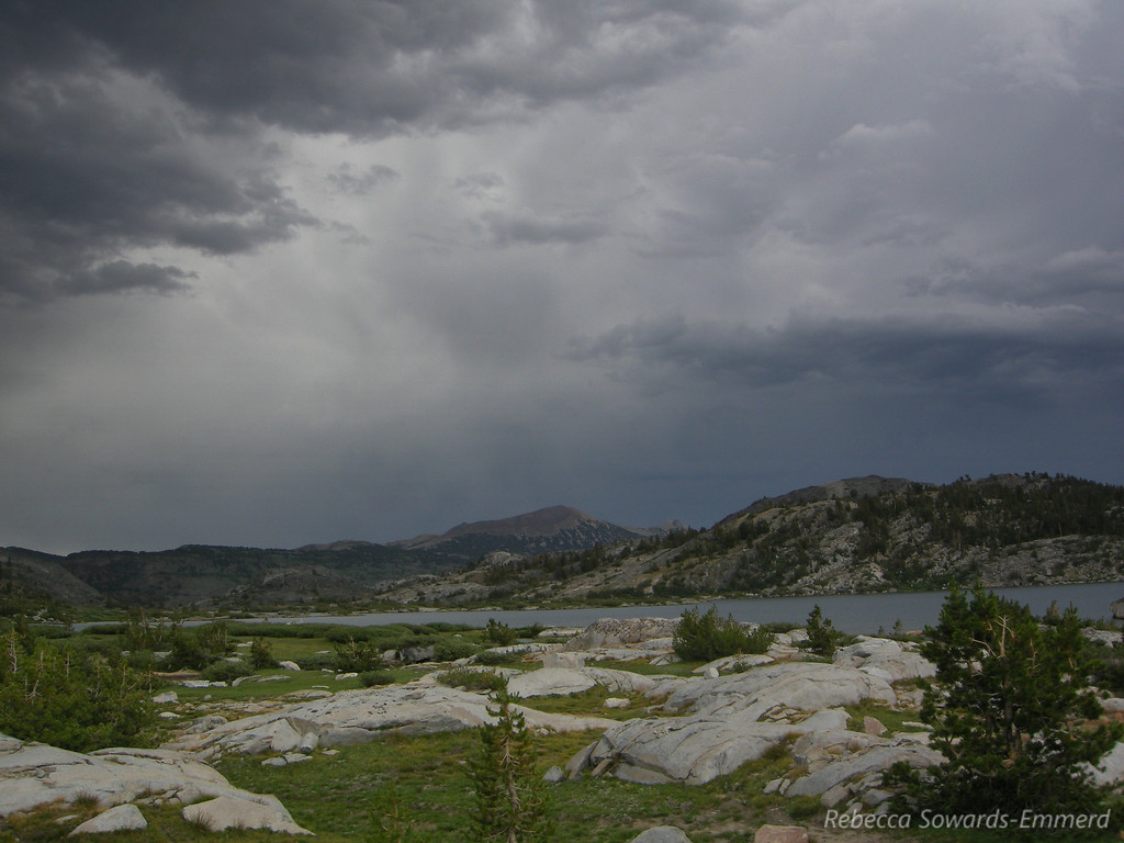 It's raining towards Mammoth