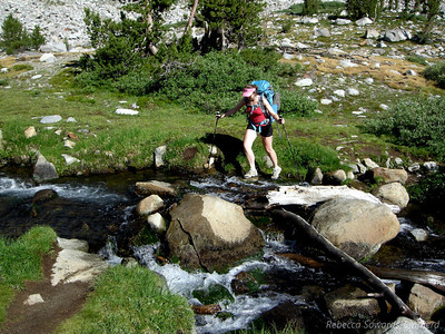 Pavla takes on another creek crossing