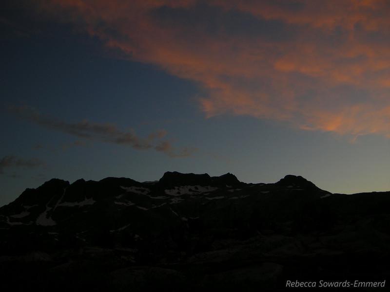 Last light over the Ritter Range