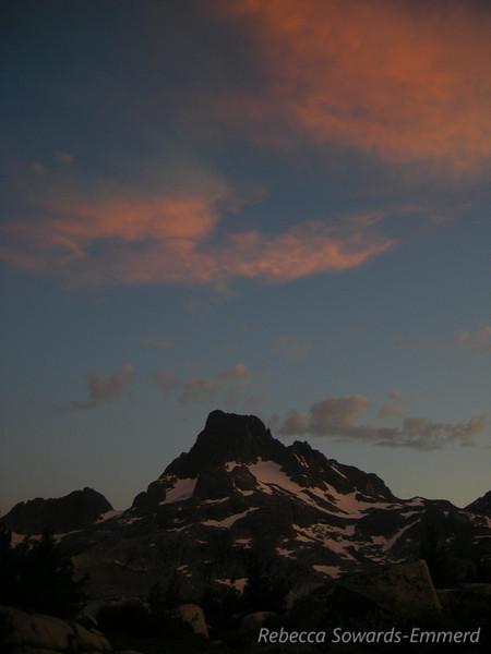 Last light over Banner Peak