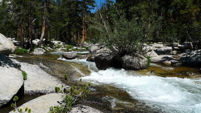 Back down at the JMT's SoFo Kings crossing we stopped to enjoy the cold water for a while.