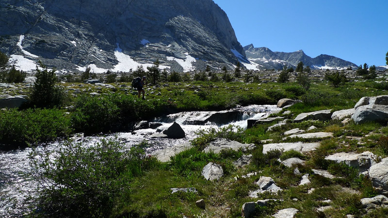 Getting above treeline - I love the views up here. One of my favorite stretches of the JMT.