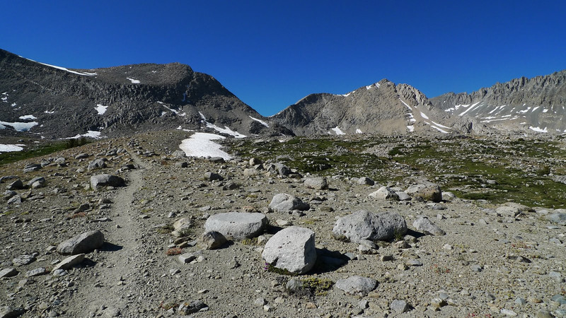 Mather Pass is the low point in the center.