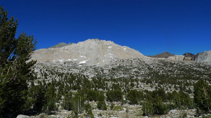 Split Mountain comes into view - tomorrow's goal.