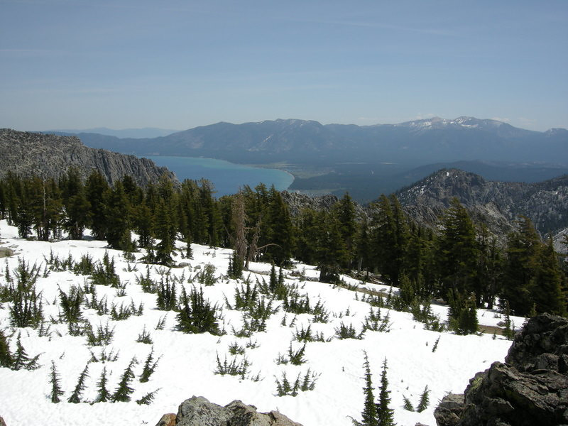 South Lake Tahoe view from Phipps Peak