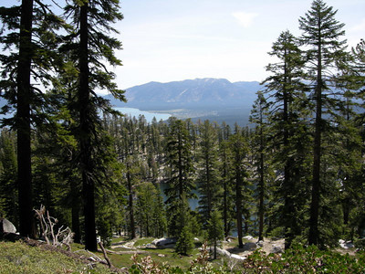 South Lake Tahoe and Heavenly ski resort in the distance