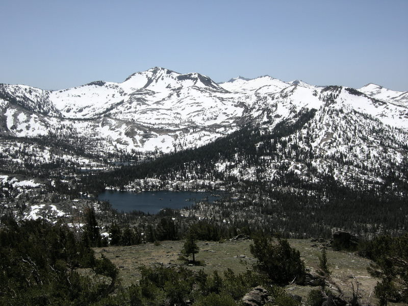 Middle Velma Lake and Dicks Peak