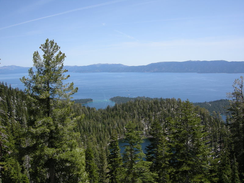 Beautiful blue Lake Tahoe