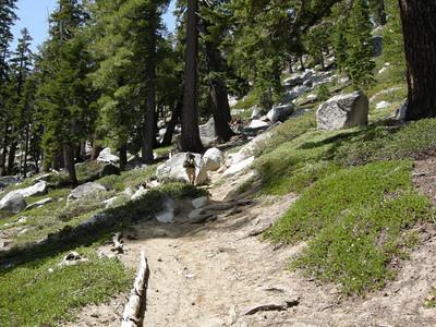 Karen on the trail above Granite Lake