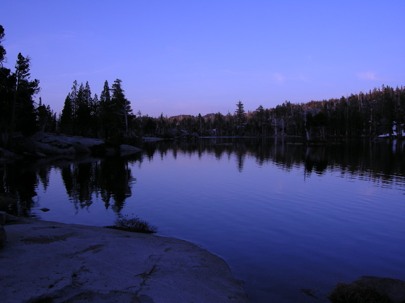 Dusk at Upper Velma Lake