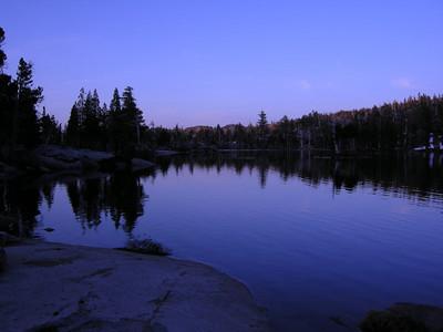 Dusk at Upper Velma Lake