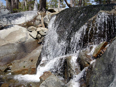 Waterfall along the trail to Upper Velma  Probably dry most of the year, but flowing with fresh snowmelt this weekend