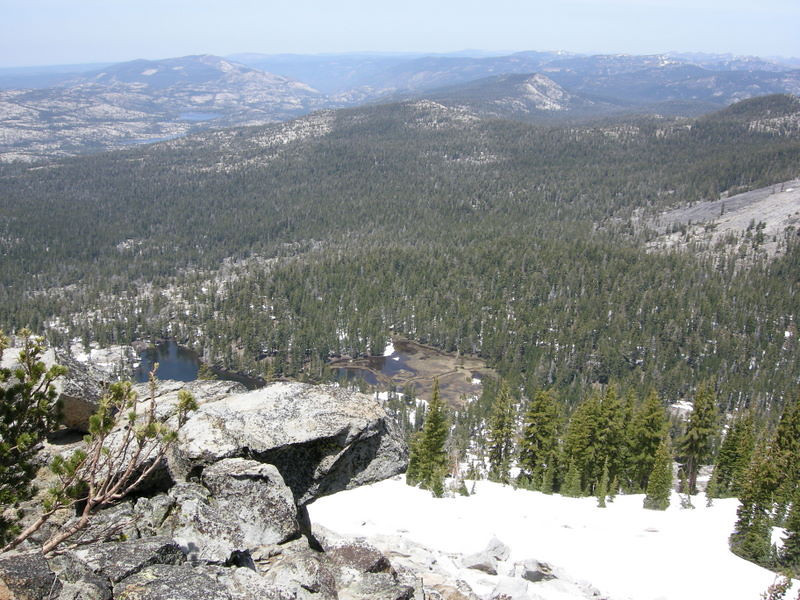 Looking north towards Rubicon from Phipps Peak