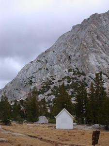 At the Vogelsang High Sierra Camp, closed for the winter.